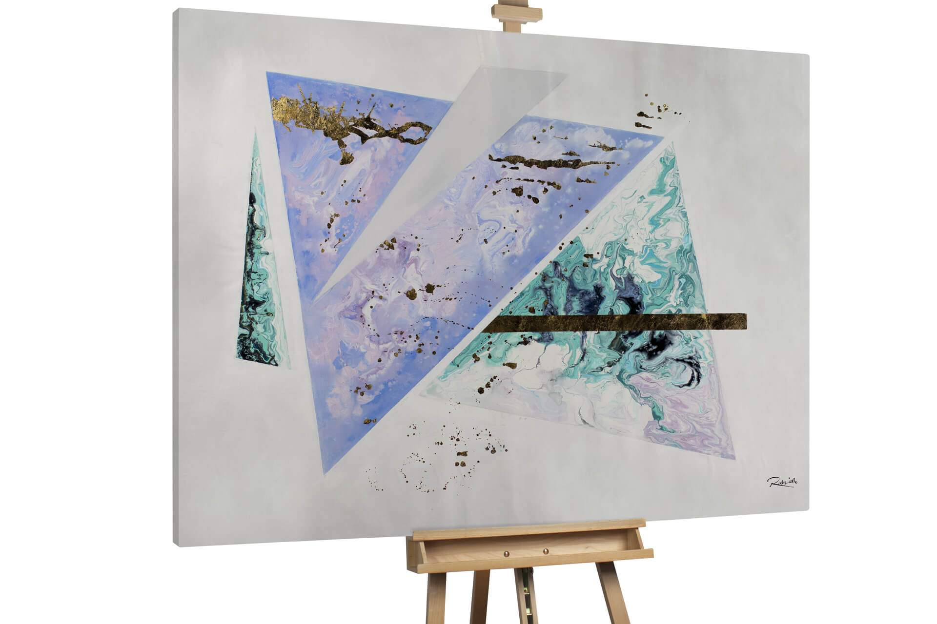 kl shading forms purple turquoise oil paintings oil pictures unique hand painted pieces modern art 0001 01