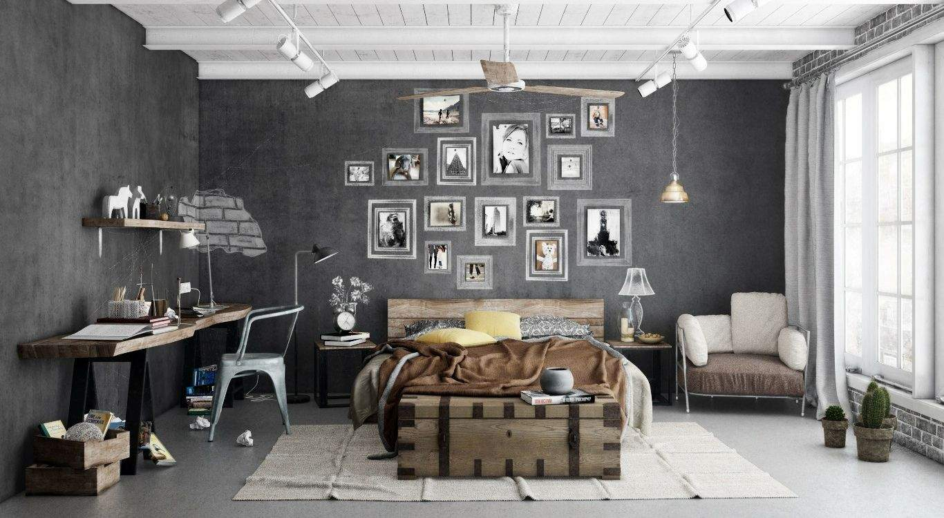 Industrial Design Wohnzimmer Frisch 25 Stylish Industrial Bedroom Design Ideas