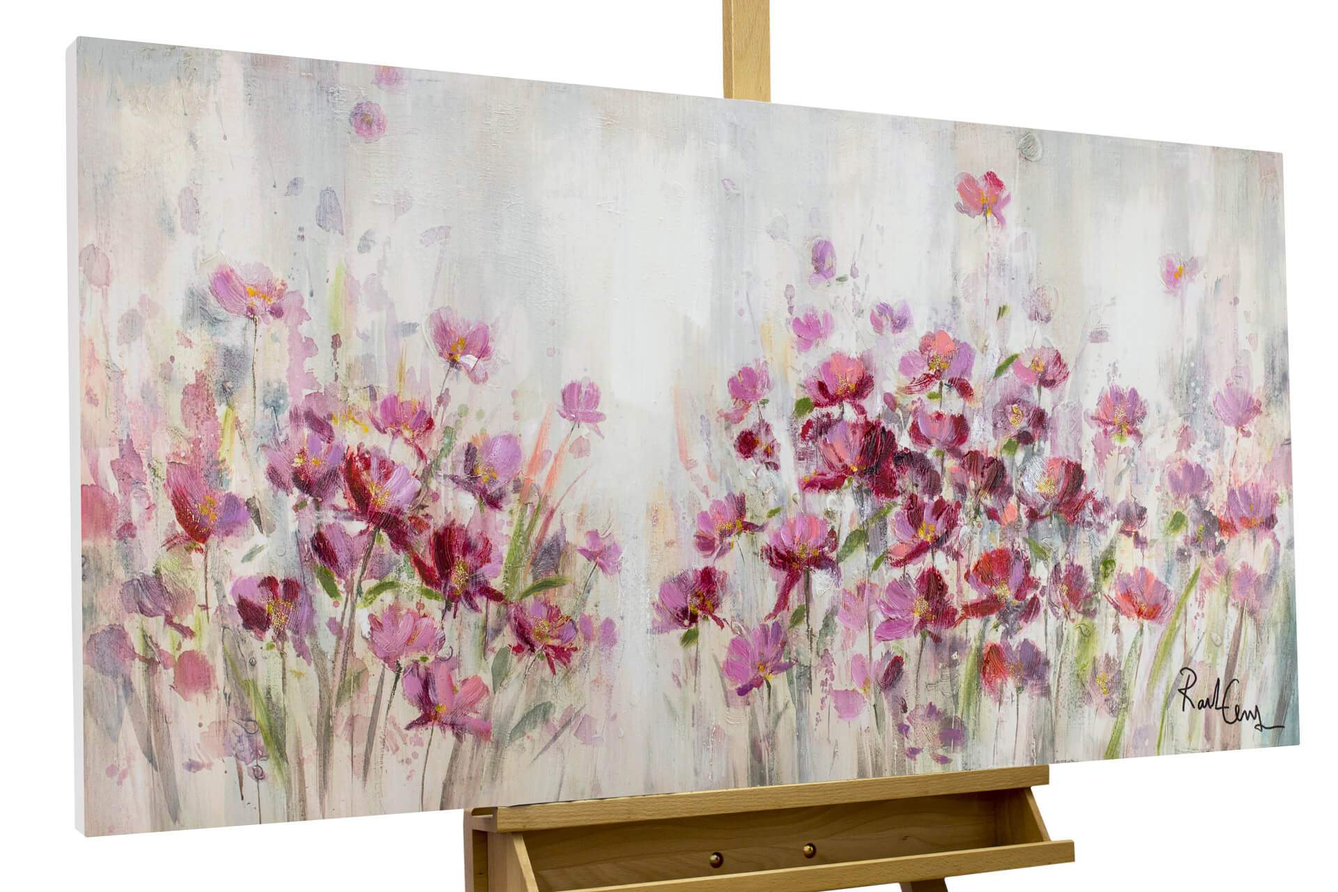 Lila Wohnzimmer Neu Acrylic Painting Lilac Reverie 47×24 Inches