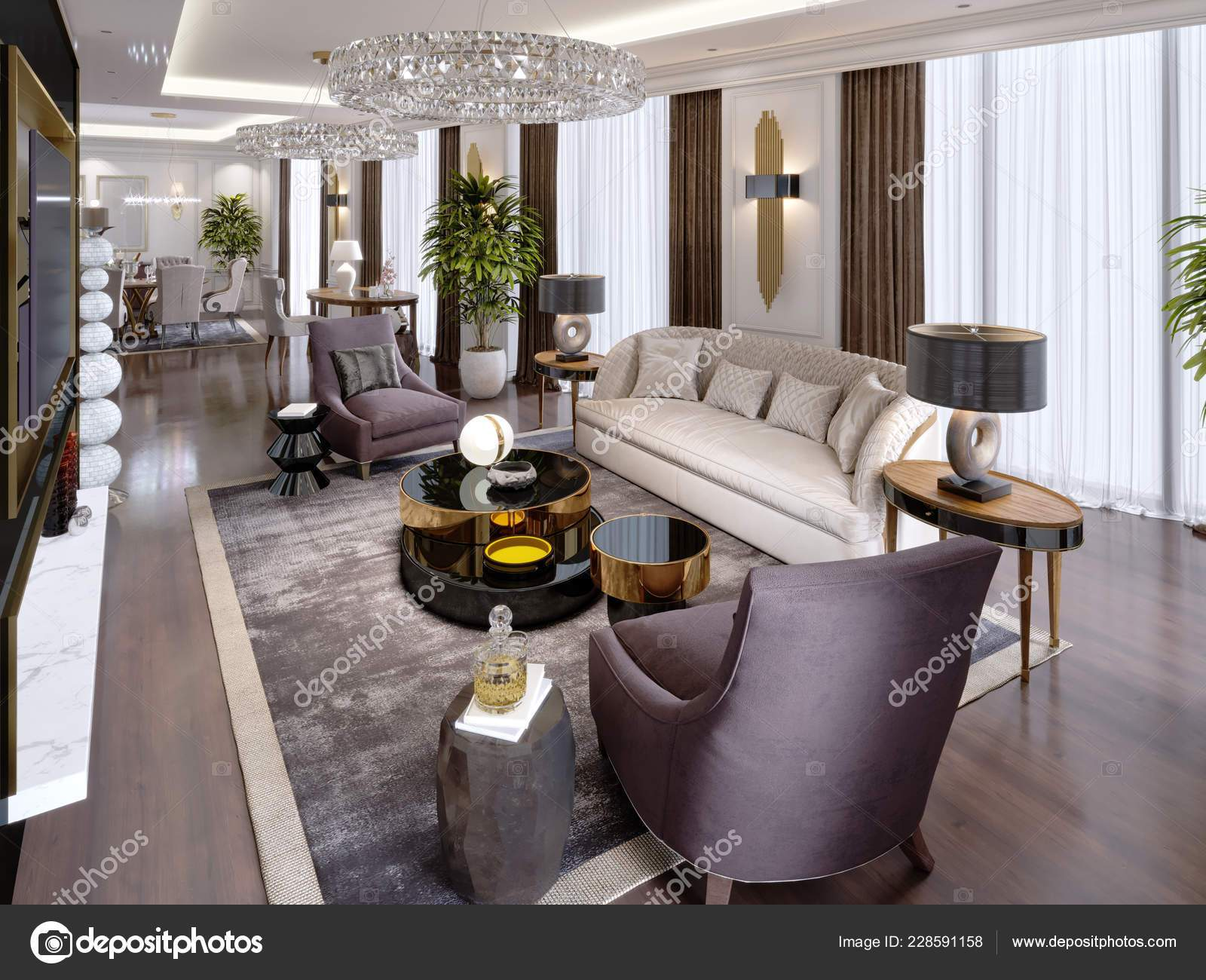 depositphotos stock photo luxury apartments hotel living room