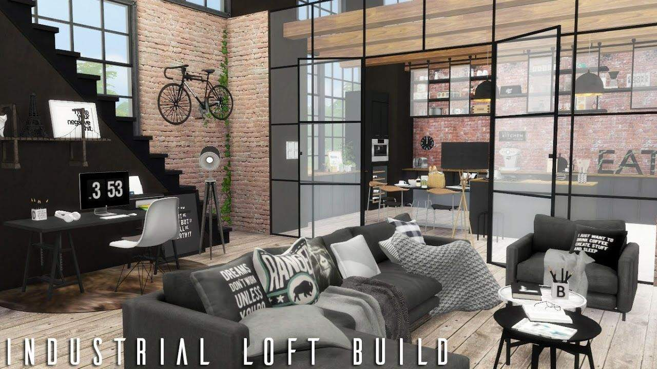 Sims 4 Wohnzimmer Inspirierend the Sims 4 Industrial Loft Cc Links