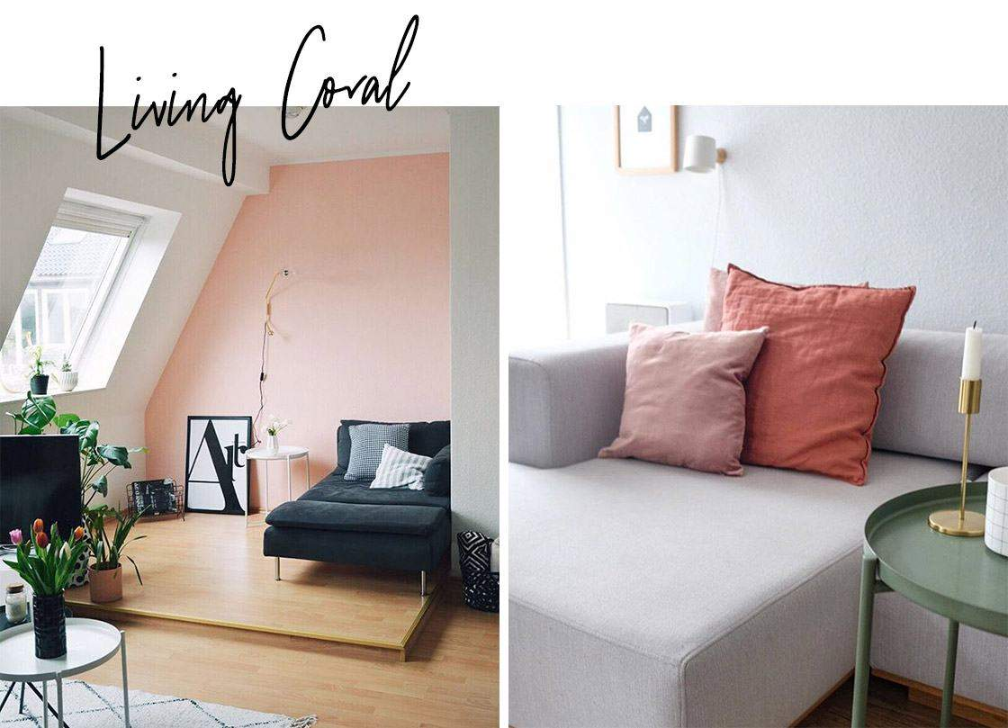 trends 2019 living coral wohnzimmer sofa