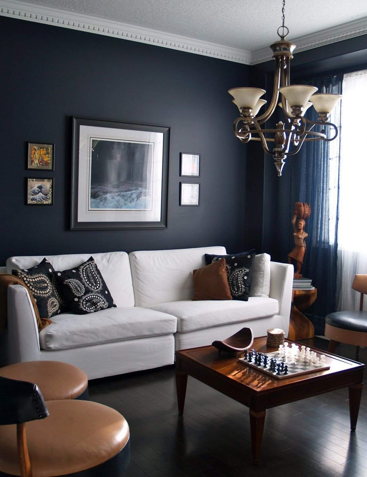 brown living room ideas awesome 15 beautiful dark blue wall design ideas of brown living room ideas