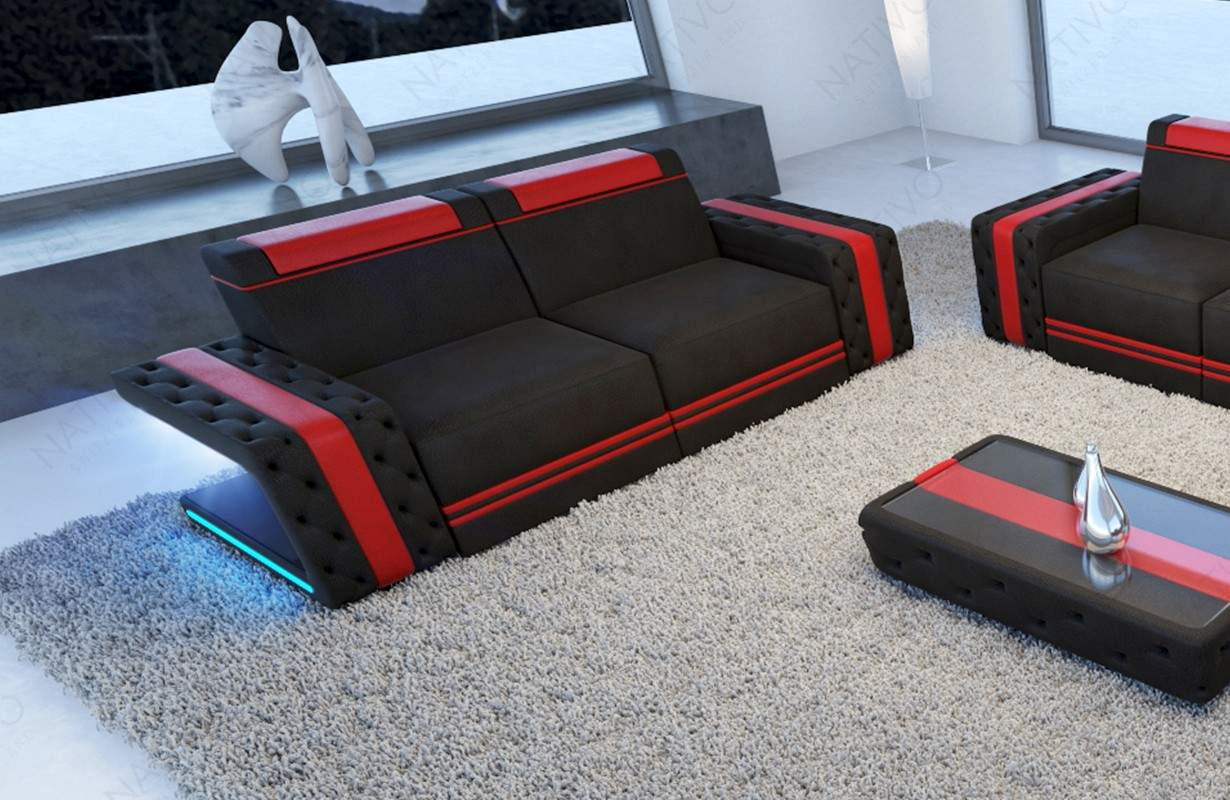 2 sitzer sofa imperial mit led beleuchtung