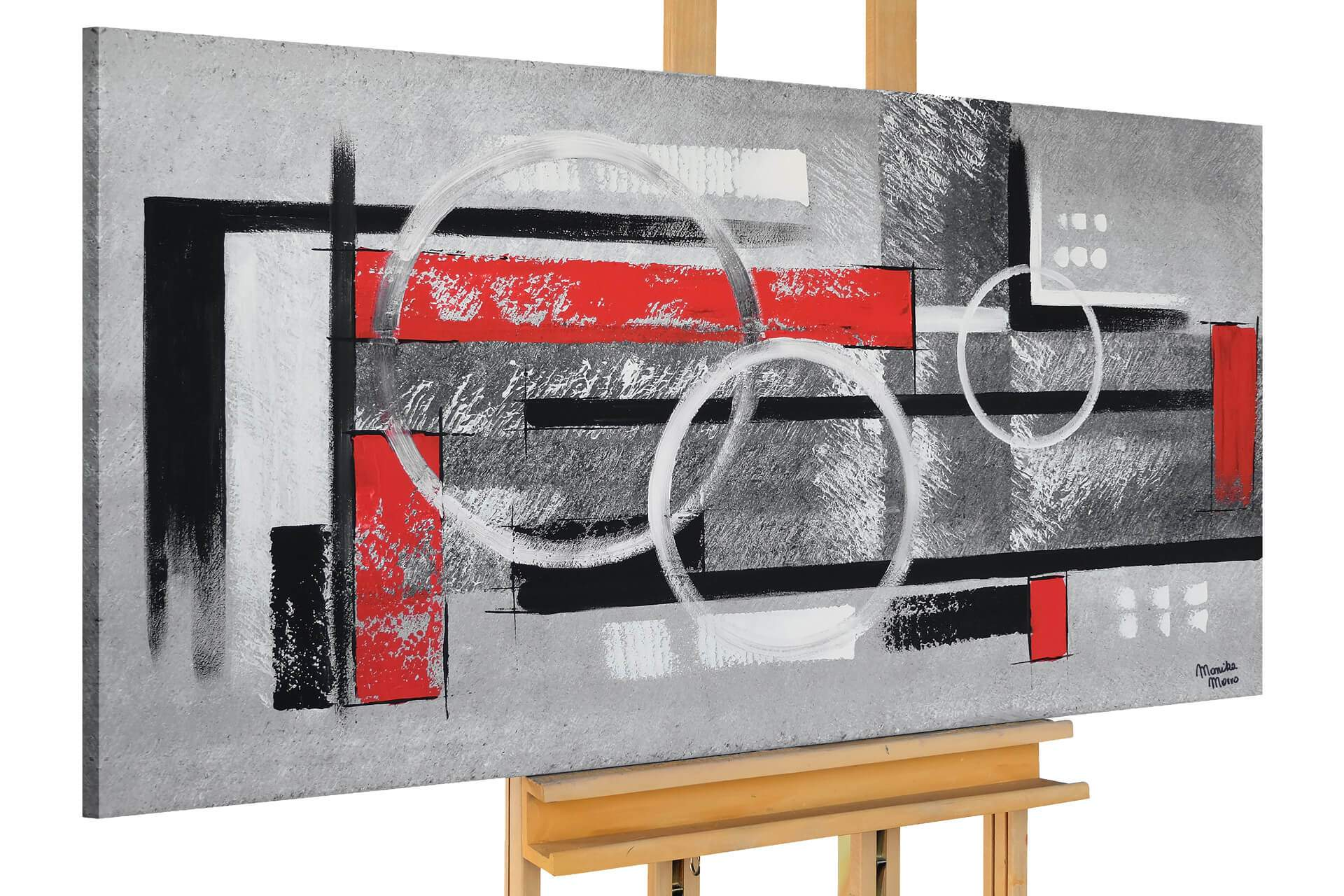 kl abstract shapes blac white red acrylic paintings acrylic pictures canvas paintings modern art 01