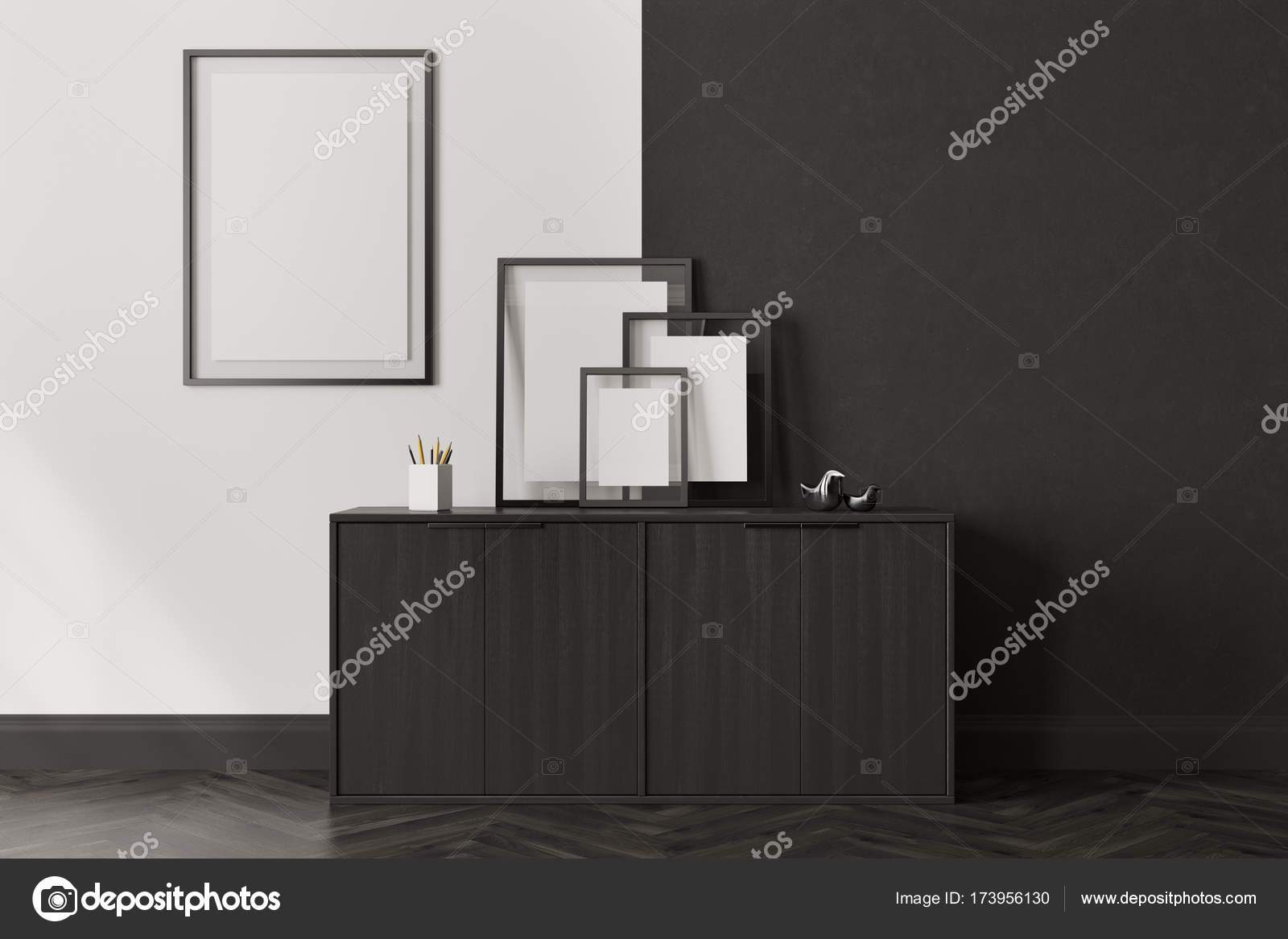 depositphotos stock photo black chest of drawers and